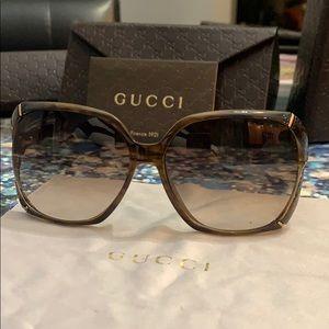 •GUCCI bamboo square sunglasses GG•